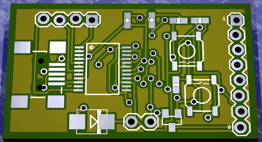NX Adapter 보드 렌더링 윗면
