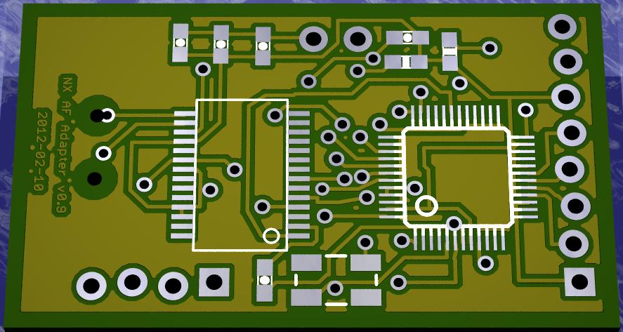 NX Adapter 보드 렌더링 아랫면