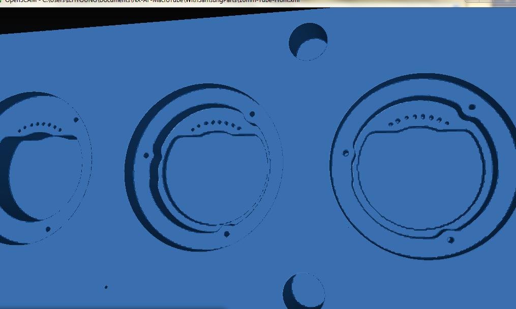 16mm 접사튜브 경통 절삭 G code 시뮬레이션 2